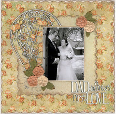DAD, A daughter,s first love.....wedding album