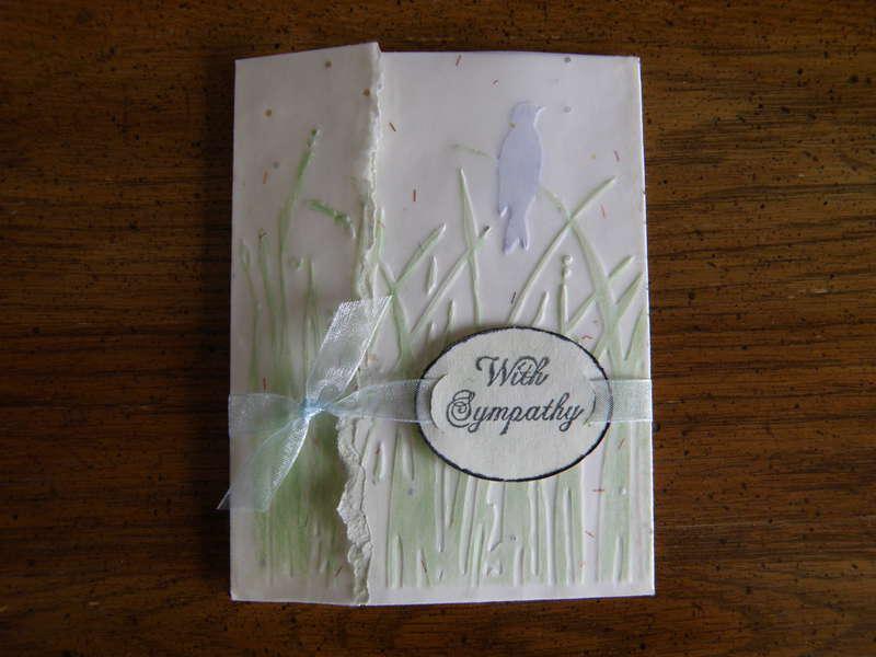 Sympathy card...Bird