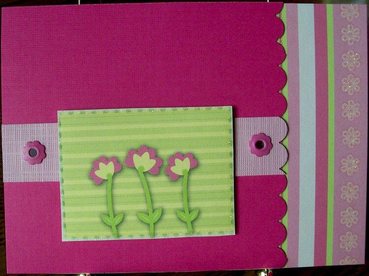 Hot Pink card....scraps