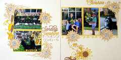 Sending sunshine in difficult times - double layout