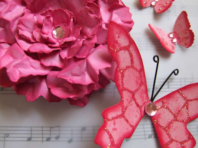 Pink Lemonade Handmade Embellishment Set