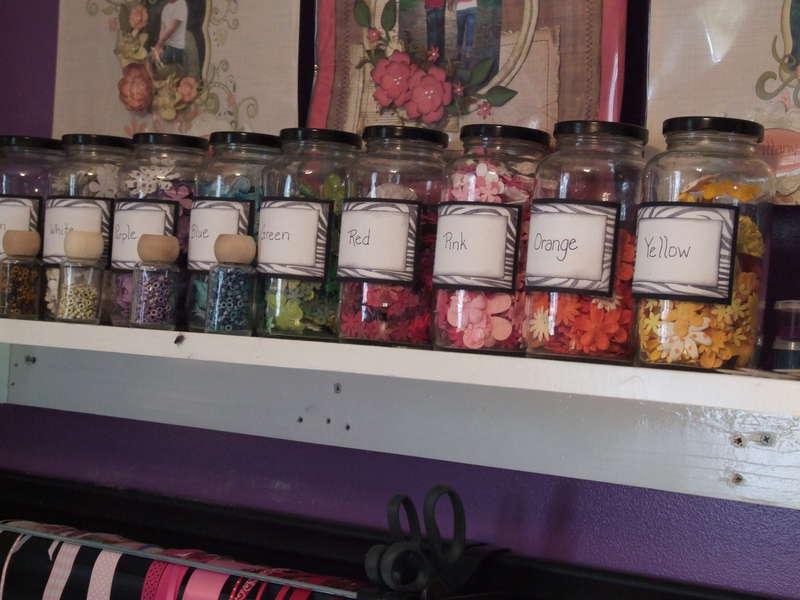 Close up of my flower jars