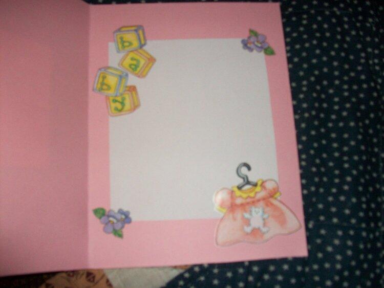 inside of babygirl card