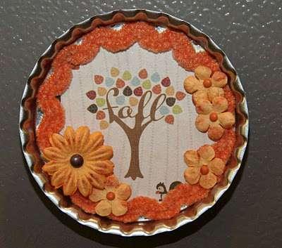 Fall bottlecap magnet