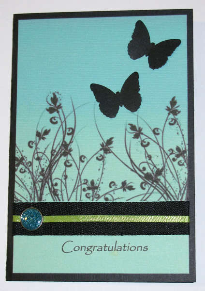 Congratulations Butterfly Card