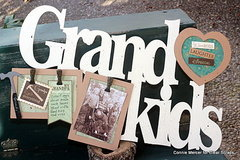 Grandkids birch wood frame