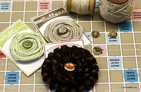 flower/button card embellishment