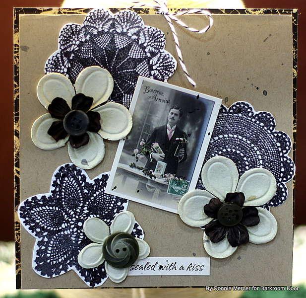 Doilie card set~black