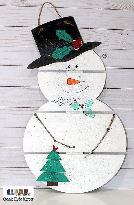 Pallet Snowman 1