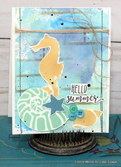 Clear Scraps sea shell card1