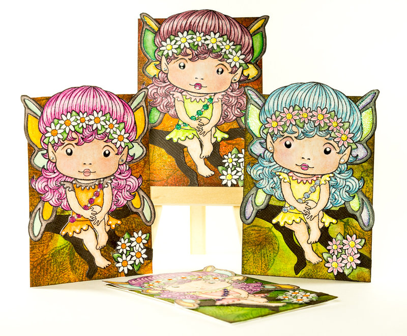 March ATCs: fairies