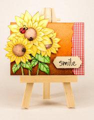 June ATC: sunflowers