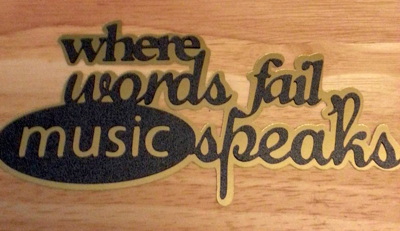 Music Speaks Die Cut