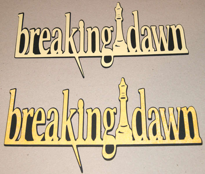 Breaking Dawn Die Cut Logo