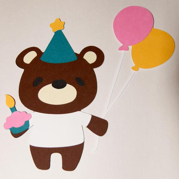 7 Layer Birthday Bear Die Cut