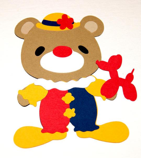 7 Layer Clown Bear Die Cut