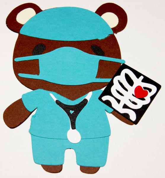7 Layer Doctor bear Die Cut