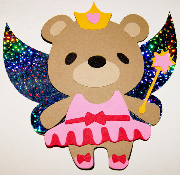 7 Layer Fairy Bear Die Cut