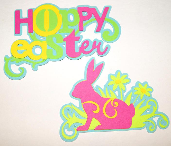 Hoppy Easter 4 Layer Die Cuts