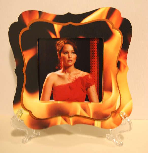 Katniss Girl on Fire Shadow Box Frame