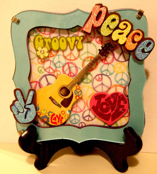Peace & Love Shadowbox Frame
