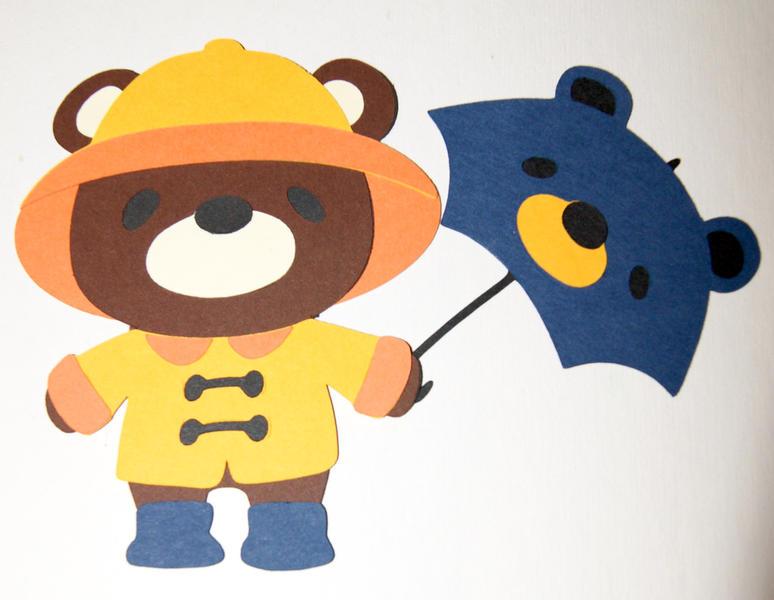 7 Layer Raincoat Bear Die Cut