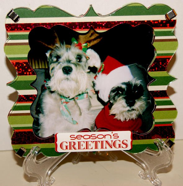Xmas Dogs Shadow Box Frame