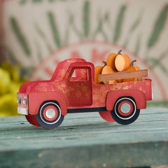 Pumpkin Truck Box Card