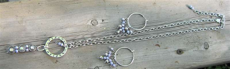 Jewelry made Upon a Picnic Table.