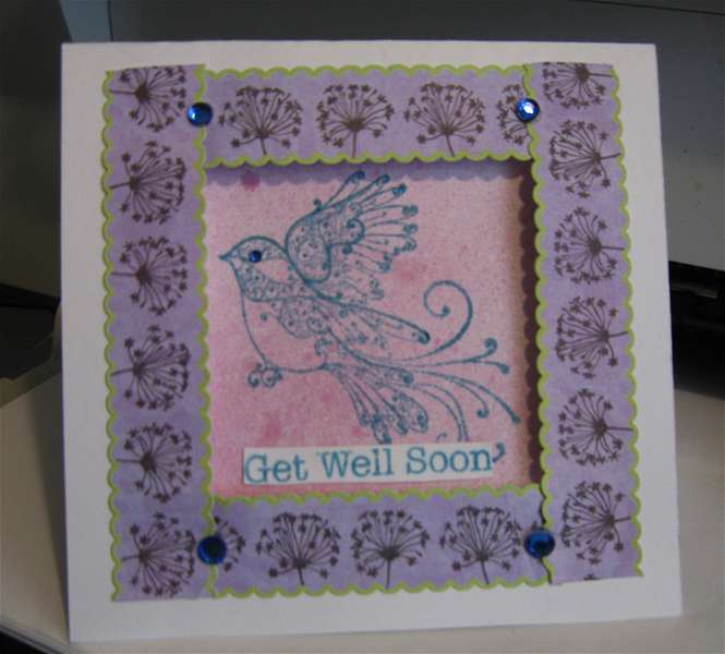 Get well soon, Shadow box card.