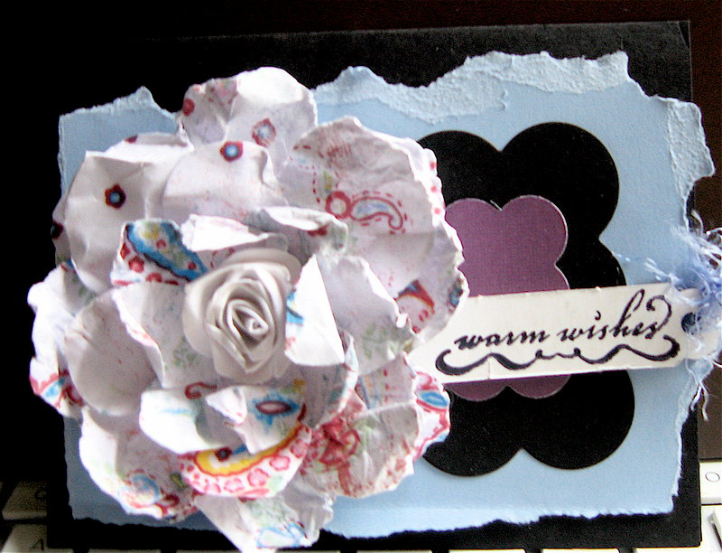 A card from scraps