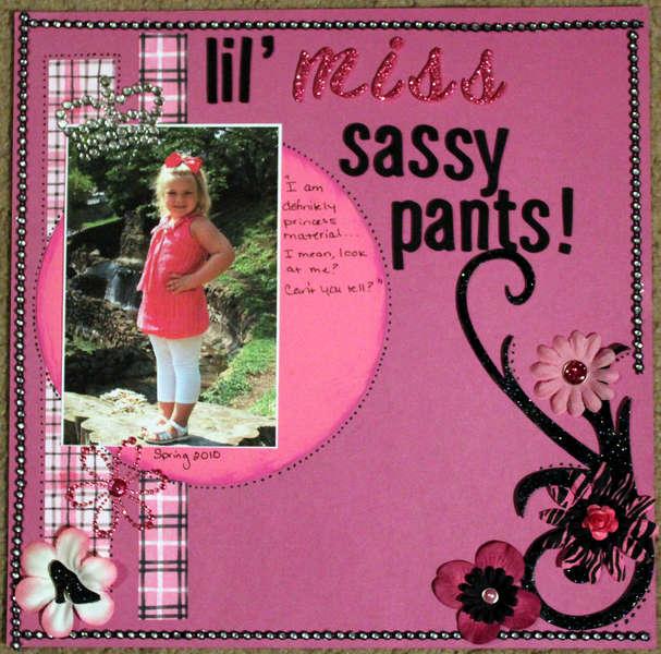 Lil' miss sassy pants!