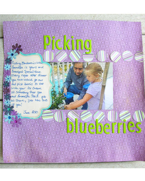 Picking blueberries with Grandpa