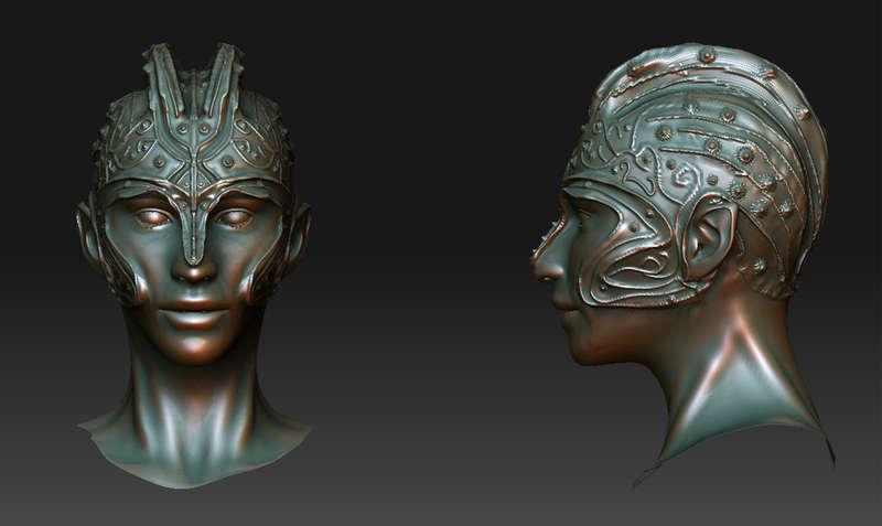 Elven Warrior (3D sculpt)