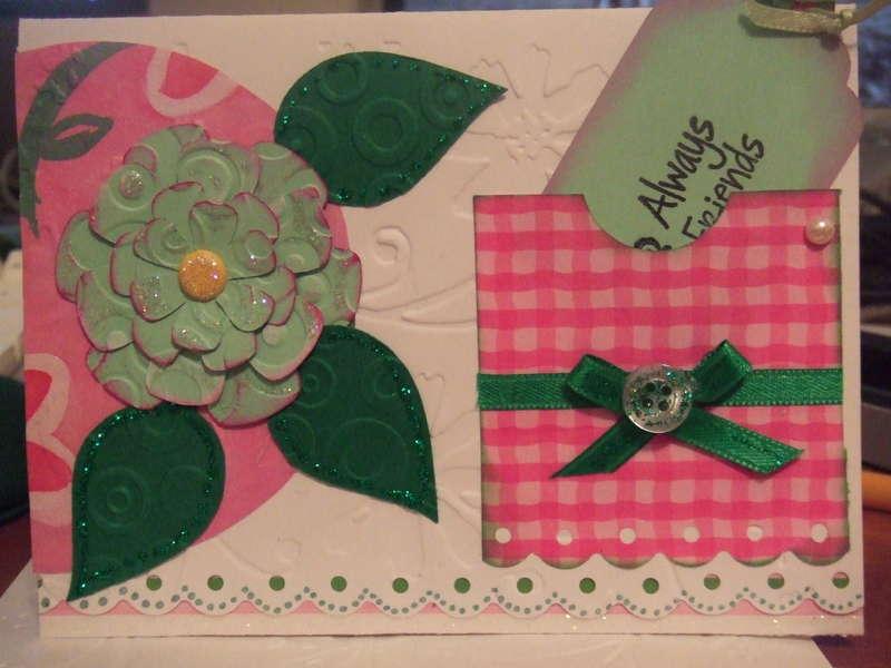 Cuttlebug Flower Card