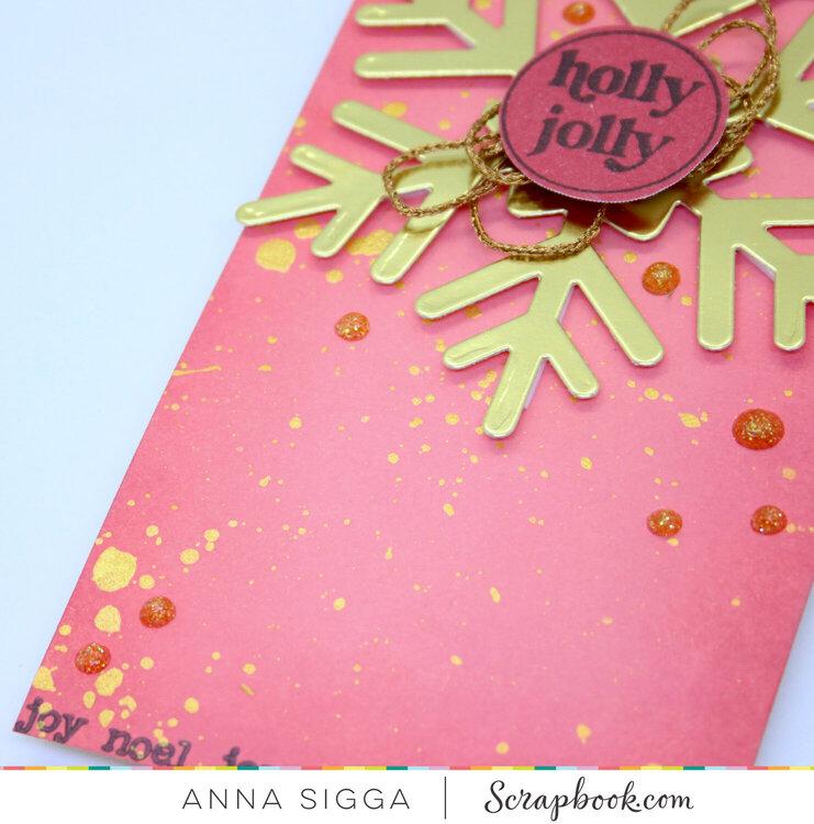 Sparkly Christmas tag