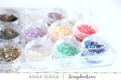 Clear embellishments jars - small