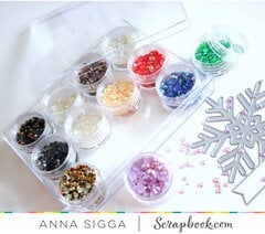 Clear embellishments jars - small