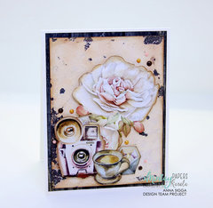 Dear Diary - floral card