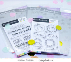 Stamps, stencils, ink pads, paper pads and Roller Dex!