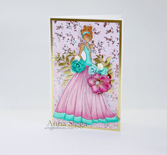 Trio of Glam Girls cards