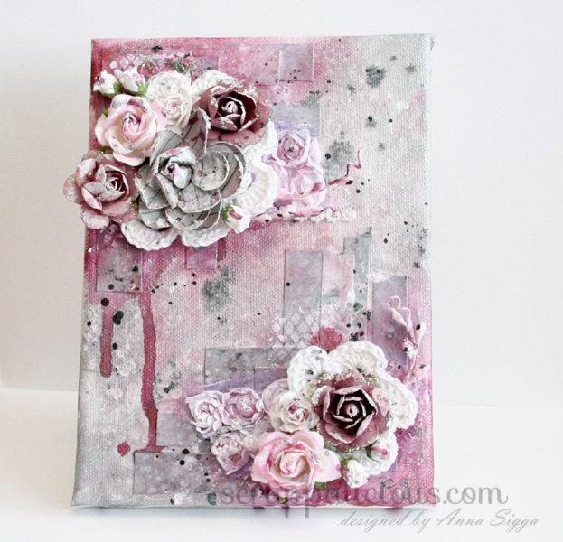 Merlot floral canvas
