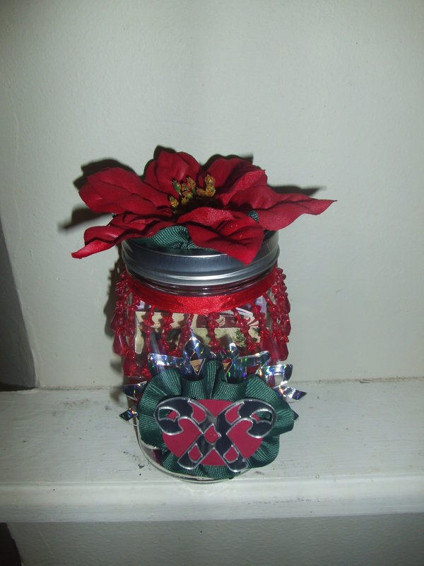 Altered Jar-Christmas