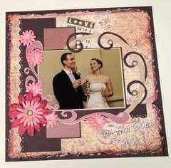 Wedding Reception Album Page
