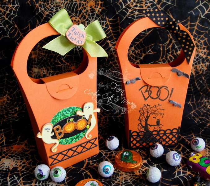 Halloween Candy Boxes for my Grandsons