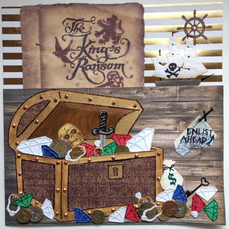 Treasure Hunt Pirate's Chest pocket page