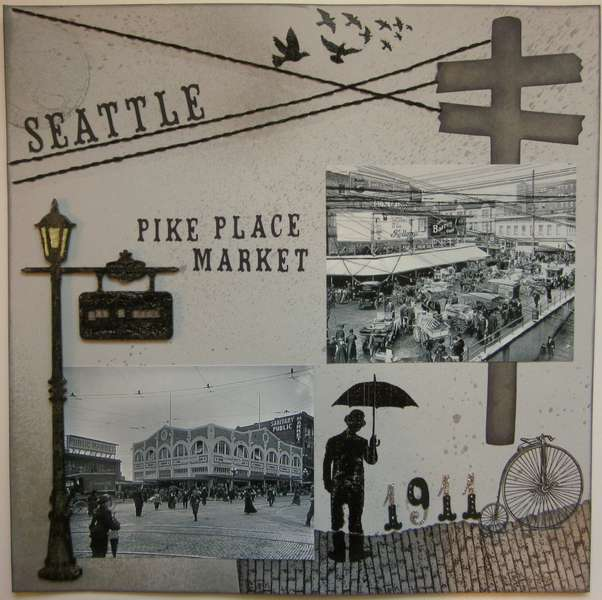 Seattle 1911 - Pike Place Market (left side)