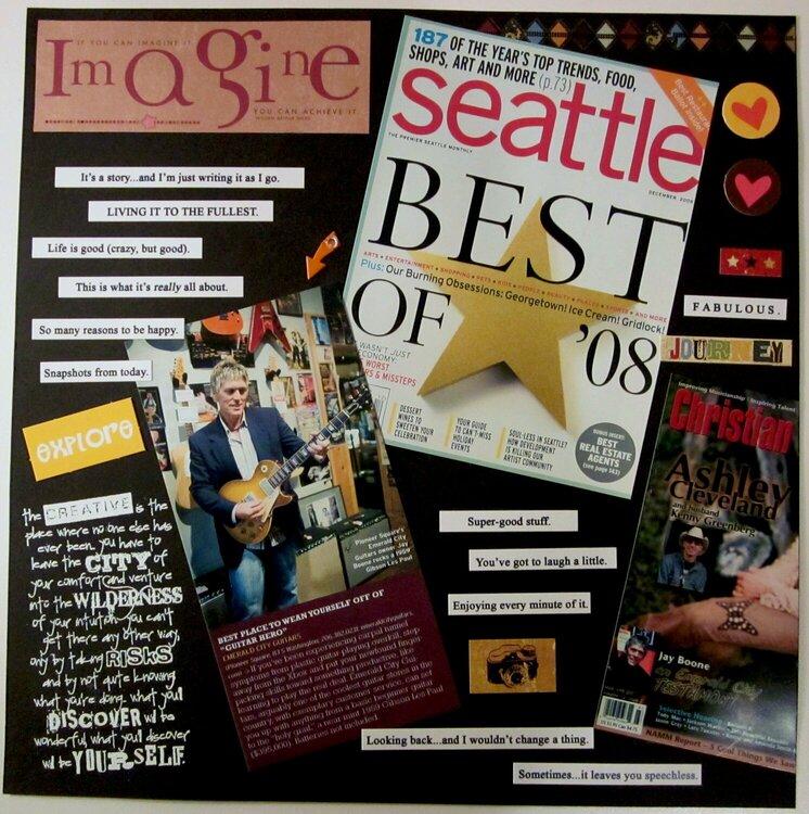 Emerald City Guitars Magazine articles (left side)