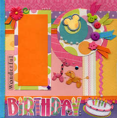 Birthday Balloons Right Page