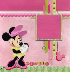 Minnie Pink & Green Left Page